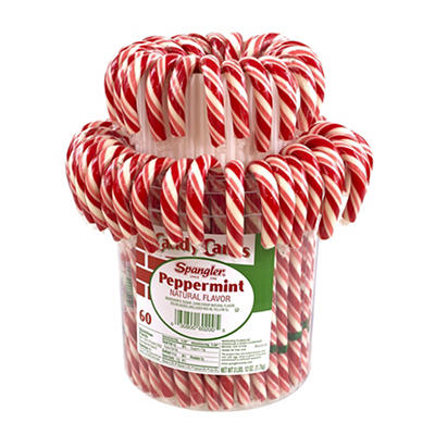Spangler Peppermint Candy Cane Jar, 60 ct.