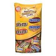 Mars Peanut and Peanut Butter Lovers Miniature Variety Pack, 2 pk./36.7 oz.