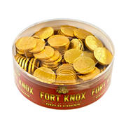 Fort Knox Milk Chocolate Gold Foil Coins, 2 lbs.