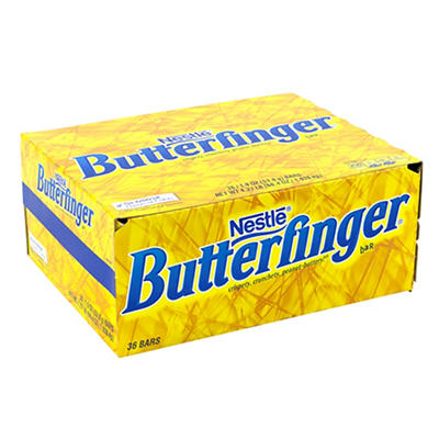 Nestle Butterfinger Candy Bar, 36 pk./1.9 oz.