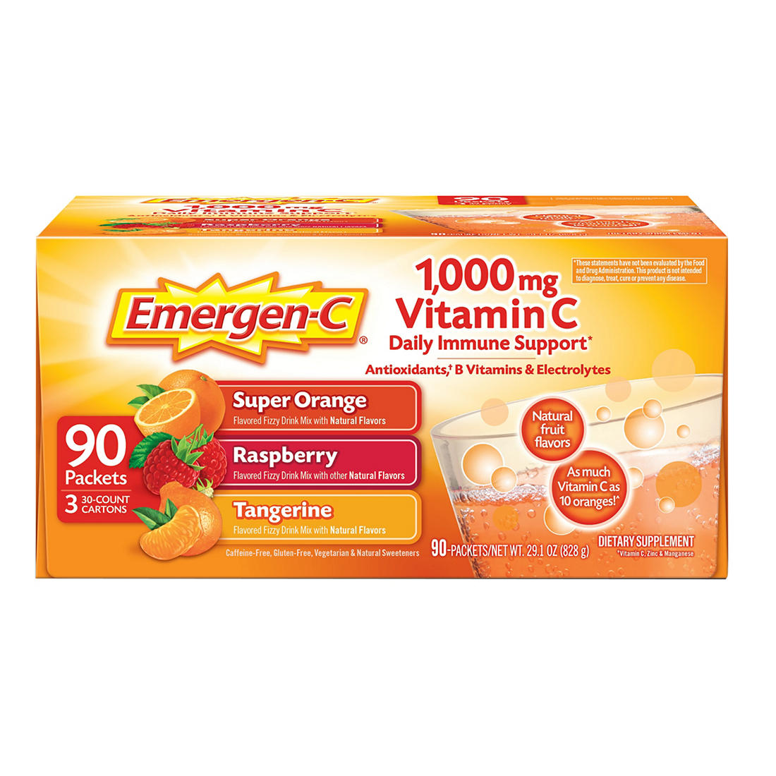 graphic relating to Emergen C Coupon Printable named Emergen-C 1,000mg Vitamin C Nutritional Health supplement, 90 ct.