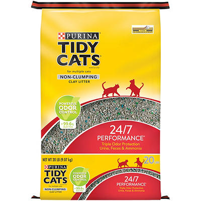 Purina Tidy Cats 24/7 Performances Non-Clumping Cat Litter for Multipl