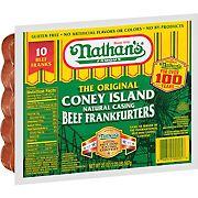 Nathan's Famous The Original Coney Island Beef Frankfurters, 20 oz.