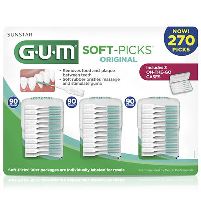 GUM Original Soft Picks, 270 ct.