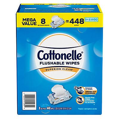 Cottonelle Flushable Cleansing Cloths, 8 pk./56 ct.