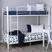 W. Trends Sunrise Twin-Size Metal Bunk Bed - White