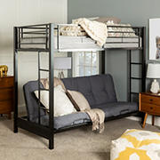 W. Trends Sunset Twin-Size/Futon Metal Bunk Bed - Black
