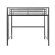 W. Trends Sunset Twin-Size Loft Metal Bunk Bed - Black