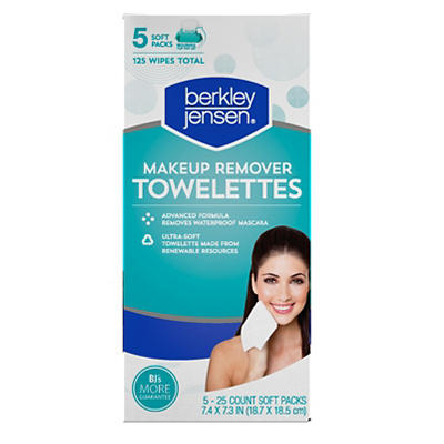 Berkley Jensen Make Up Remover Facial Towelettes, 125 ct.