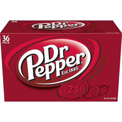 Dr. Pepper Soda, 36 pk./12 oz. cans