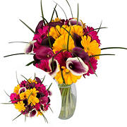 InBloom Mardi Gras Bouquet, 32 Stems