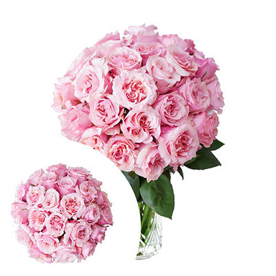 InBloom Pink Starburst Garden Rose Bouquet, 24 pc.