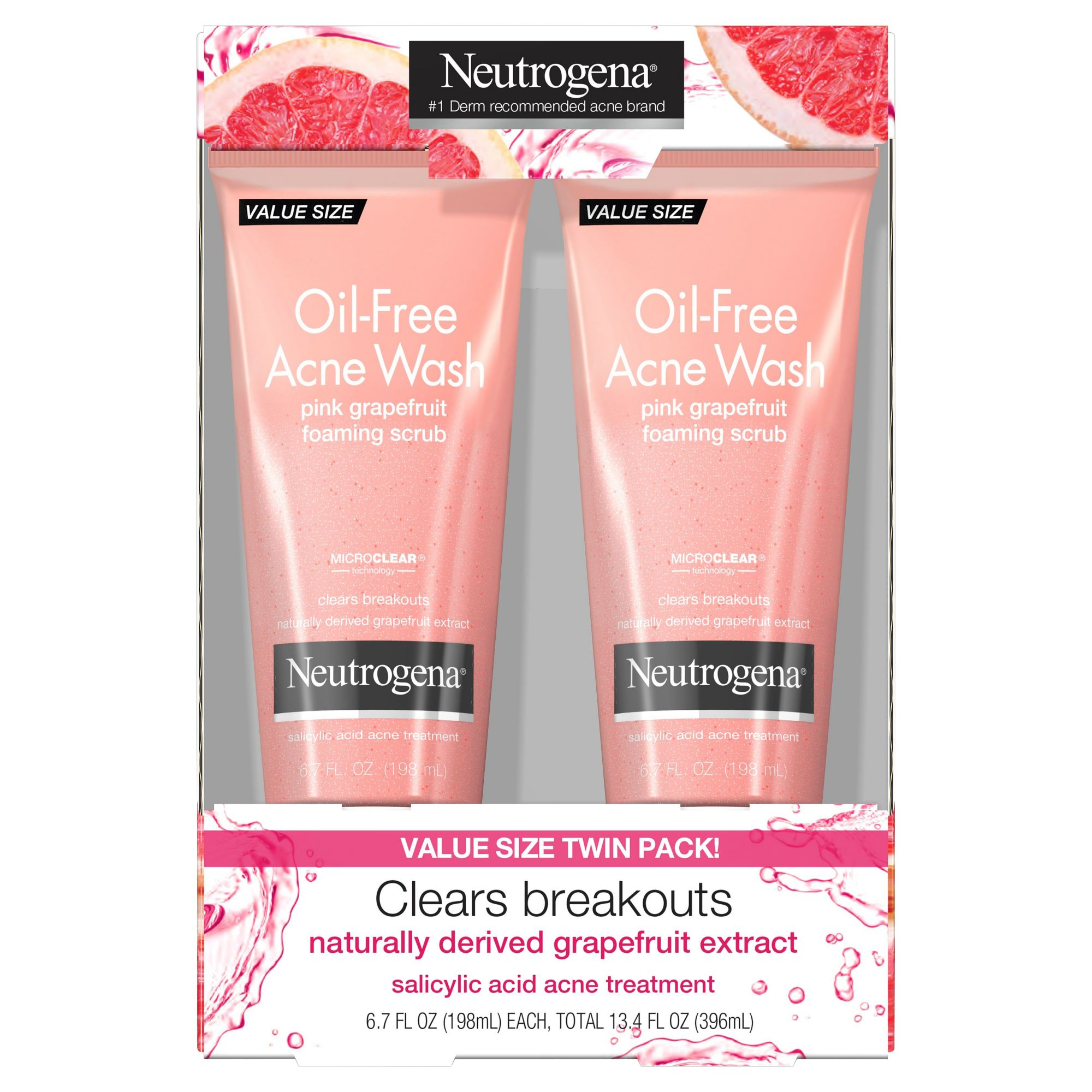 Neutrogena Neutrogena Oil Free Acne Face Wash Daily Face Scrub 4 2 Fl Oz From Walgreens Shefinds