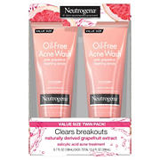 Neutrogena Oil-Free Pink Grapefruit Acne Face Wash Foaming Scrub with Salicylic Acid Acne Treatment, 2 pk./6.7 fl. oz.