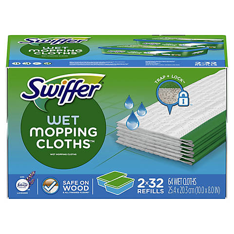 Swiffer Sweeper Wet Mopping Cloths 64 Ct Bjs Wholesale Club