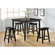 Acme Gaucho 5-Pc. Counter-Height Set - Black