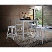 Acme Gaucho 5-Pc. Counter-Height Set - White