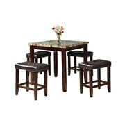 Acme Rolle 5-Pc. Counter-Height Set - Espresso