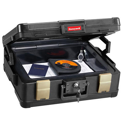 Honeywell 0.38-Cu.-Ft. Fire and Water Document Chest with Key Lock