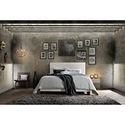 Acme Lien Faux Leather Queen-Size Bed - Black