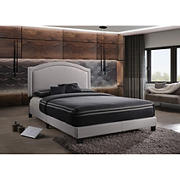 Acme Garresso Fabric Queen-Size Bed - Fog