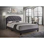 Acme Tradilla Queen-Size Bed - Gray Fabric