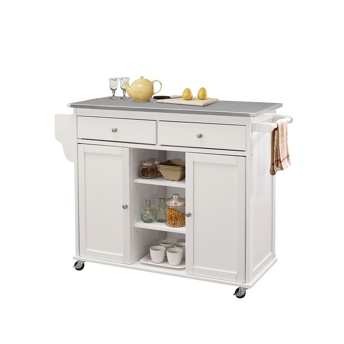 Acme Tullarick Kitchen Cart White