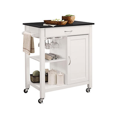 Acme Ottawa Kitchen Cart - Black and White