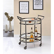 Acme Lakelyn Glass Serving Cart - Black