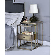 Acme Enca Glass Nesting Table - Clear