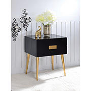 Acme Denvor End Table - Black and Gold