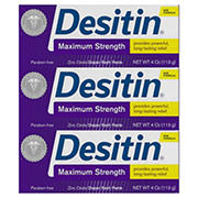 Desitin Maximum Strength Paste, 3 ct./4 oz.