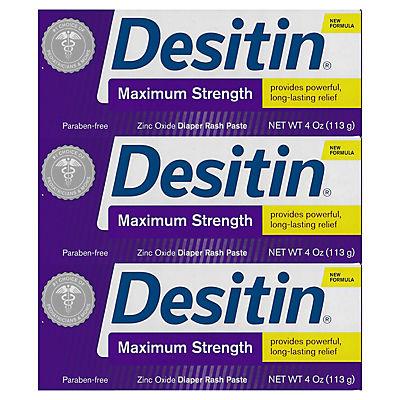 Desitin Maximum Strength Paste, 3 ct./4 oz.
