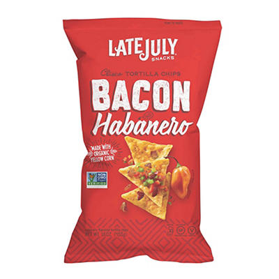 Late July Snacks Bacon Habanero Tortilla Chips, 16 oz.