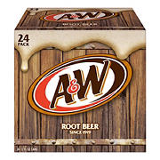 A&W Root Beer, 24 ct./12 oz. cans