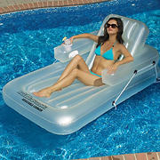Swimline KickBack Single Adjustable Lounger - Clear