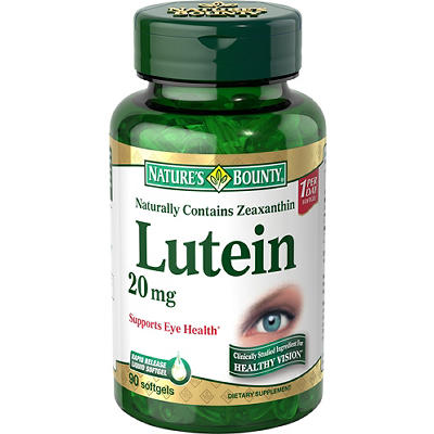 Nature's Bounty  Lutein 20mg Softgels, 90 ct.