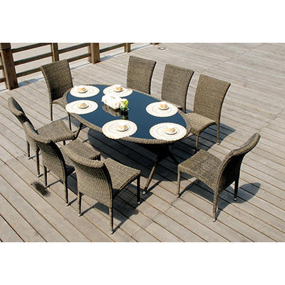 Atlantic Alabama 9-Pc. Outdoor Dining Set - Gray