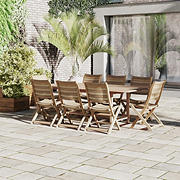 Amazonia Hudson 9-Pc. Teak Dining Set - Brown