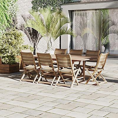 Amazonia Hudson 9-Pc. Teak Dining Set - Brown