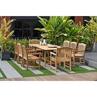 Amazonia Madison 9-Pc. Teak Patio Dining Set - Natural
