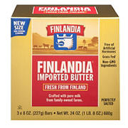 Finlandia Pure Milk Butter, 3 ct./8 oz.