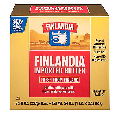 Finlandia Pure Milk Butter, 3 ct./8 oz.