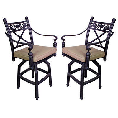 Summerville Empirial Cushioned Barstools, 2 pk. - Antique Bronze