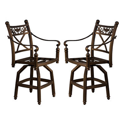 Summerville Empirial Counter-Height Barstools, 2 pk. - Antique Bronze