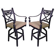 Summerville Empirial Counter-Height Cushioned Barstools, 2 pk. - Antique Bronze