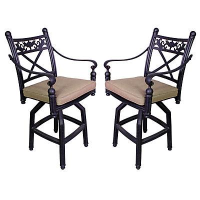 Summerville Empirial Counter-Height Cushioned Barstools, 2 pk. - Antiq