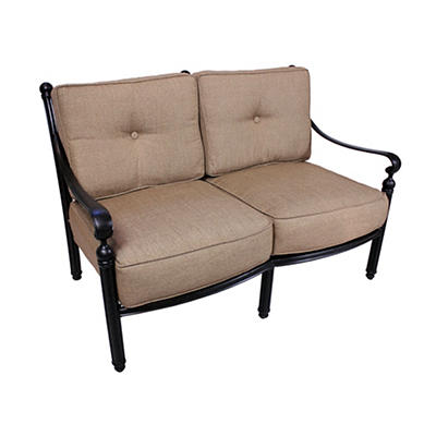 Summerville Empirial Cushioned Patio Loveseat - Antique Bronze