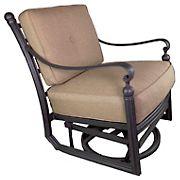 Summerville Empirial Swivel Cushioned Patio Club Chair - Antique Bronze/Sesame