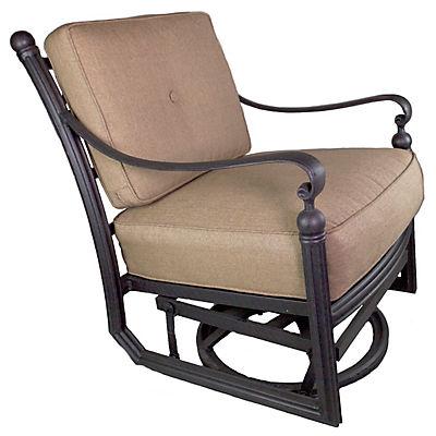 Summerville Empirial Swivel Cushioned Patio Club Chair - Antique Bronz